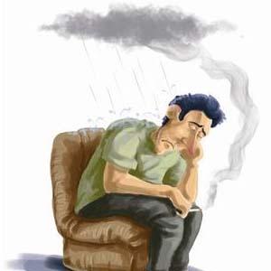抑郁症图片卡通
